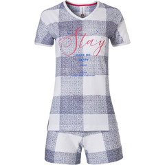 Rebelle short sleeve cotton shorty set  'Stay'