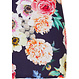 Pastunette Beach 'flowers in Paradise' short sleeve  dark blue beach dress with all over big beautiful flowers