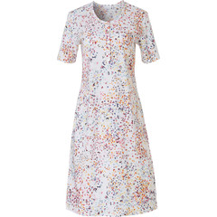 Pastunette short sleeve cotton nightdress with buttons 'little butterfly flowers'