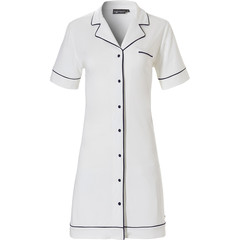 Pastunette Deluxe short sleeve full button ladies nightdress 'satin soft luxury'