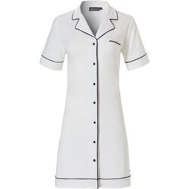 Pastunette Deluxe doorknoop damesnachthemd met korte mouwen 'satijn-zachte-luxe'