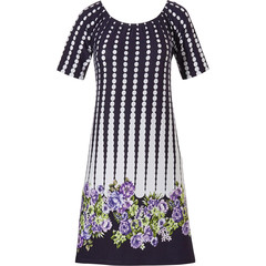 Pastunette Beach short sleeves beach dress 'dotty about flowers'