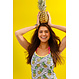 Rebelle spaghetti dress 'tropical pinapple crush'