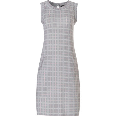 Pastunette Deluxe mouwloos dames nachthemd-homedress 'checkered blocks of style'
