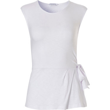 Pastunette Beach 'elegant holiday sophisticattion' white sleeveless Mix & Match beach top with side tie