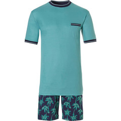 Pastunette for Men mens cotton shorty set 'Ocean Life, Palms Beach'
