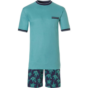 Pastunette for Men katoenen shortama voor heren 'Ocean Life, Palms Beach'