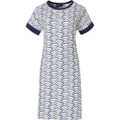 Pastunette Deluxe short sleeve ladies nightdress 'chic luxury waves'