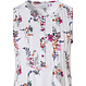 Pastunette 'pretty garden flowers' ladies short sleeve, pure white floral cotton nightdress with 6 buttons and pretty front pleat detail