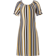 Pastunette Beach Premium Collection short sleeve beach dress 'sunshine stripes'