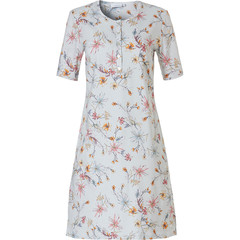 Pastunette short sleeve cotton floral ladies nightdress with buttons 'springtime flowers'