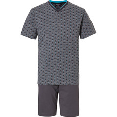 Pastunette for Men mens shorty set 'Ocean Life, sea shark S.O.S'