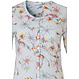 Pastunette 'springtime flowers' ladies short sleeve greeny-blue full button cotton floral pyjama with matching 3/4 floral pants