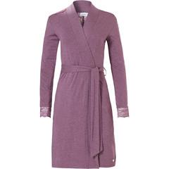 Pastunette overslag ochtend jas voor dames met ceintuur 'kant'-detail