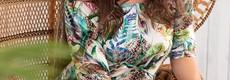 Pastunette Beach Premium Collectie off-shoulder strandjurkje 'lost in mysterious beauty'