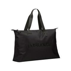 Pastunette Beach over-the-shoulder black beach bag with zip closure