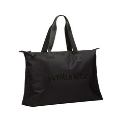 Pastunette Beach Pastunette Beach over-the-shoulder black beach bag with zip closure