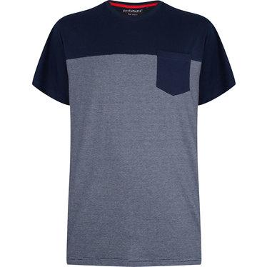 Pastunette for Men grey & blue fine stripes short sleeved men's cotton pyjama top