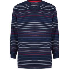 Pastunette for Men strepen, katoenen pyjama top