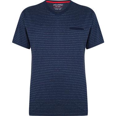Pastunette for Men a sporty blue striped short sleeved pyjama top