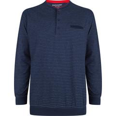 Pastunette for Men blauw gestreepte pyjama top