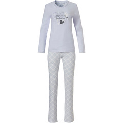 Pastunette ladies cotton pyjama 'all you need is lovehearts ♥'s ,checkered style'