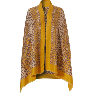 Pastunette Deluxe over-the-shoulder shawl 'animal print'