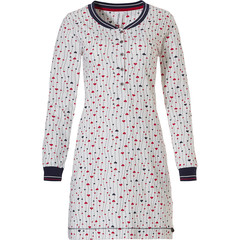 Rebelle long sleeve cotton nightdress 'leafs of lovehearts ♥'