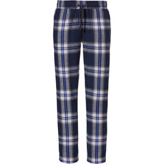 Rebelle Mix & Match long flannel pants 'denim blue checks'