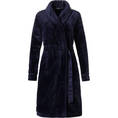 Pastunette Deluxe dark blue wrap-over morningown 'soft luxury'