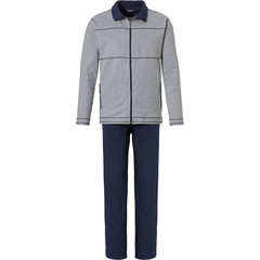 Pastunette for Men mens lounge-homesuit with zip 'sporty style'
