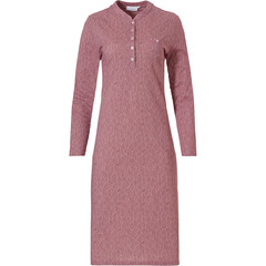 Pastunette long sleeve cotton nightdress with buttons 'leaves of dreams'