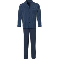 Robson katoenen doorknoop heren pyjama 'hexagon print pattern'