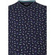 Pastunette for Men 'funky paperclip' dark blue men's cotton pyjama with great 'funky paperclips' pattern and long dark blue pants with cuffs