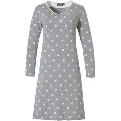 Pastunette Deluxe french terry long sleeve nightdress 'fashionably dotty'