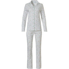 Pastunette ladies full button cotton pyjama 'abstract gatsby fan'