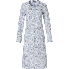 Pastunette Deluxe classic style cotton nightdress 'elegant feathers'