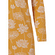 Pastunette 'sacred lotus flower' mustard yellow & white floral patterned long sleeve cotton-modal nightdress with 3 buttons