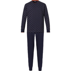 Pastunette for Men mens cotton pyjama set with cuffs 'bike club'
