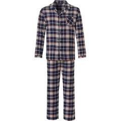Pastunette for Men katoen-flanellen doorknoop herenpyjama 'cool Winter check'