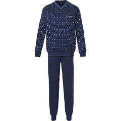 Robson mens cotton pyjama with cuffs 'groovy pattern'