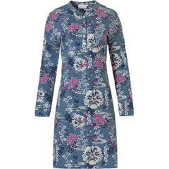 Pastunette long sleeve cotton nightdress 'japanese garden flowers'