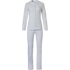 Pastunette ladies cotton full button pyjama 'checkered style'