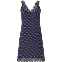 Pastunette Deluxe luxury lace sleeveless nightdress 'navy luxury lace'
