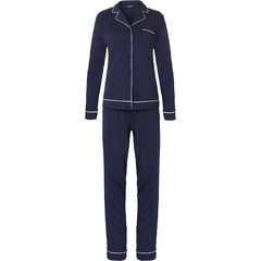 Pastunette Deluxe long sleeve full button pyjama 'delightful midnight blue'