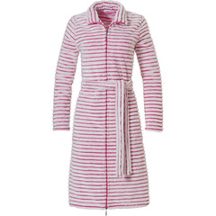 Pastunette soft fleece pink ladies morninggown with zip 'soft lines'