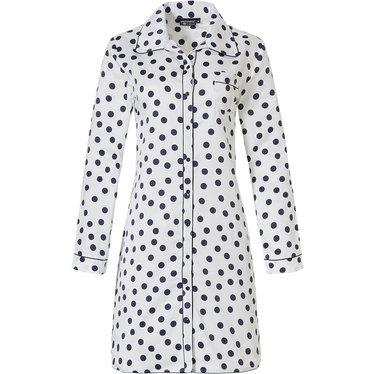 Pastunette Deluxe doorknoop nachthemd met lange  mouwen 'delightfully dotty'