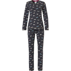 Rebelle long sleeve cotton pyjama 'sausage dogs'