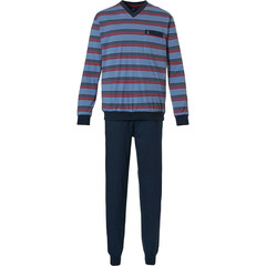 Robson mens cotton pyjama set with cuffs 'all about stripes'