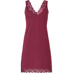 Pastunette Deluxe sleeveless nightdress 'bordeaux luxury lace'